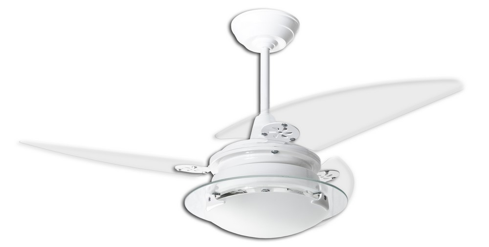 Ventilador de Teto Residence Branco / Pás Transparentes
