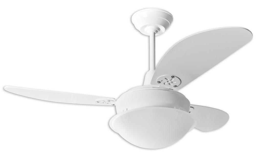 Ventilador de Teto Pérola Branco / Pás 02 Branca