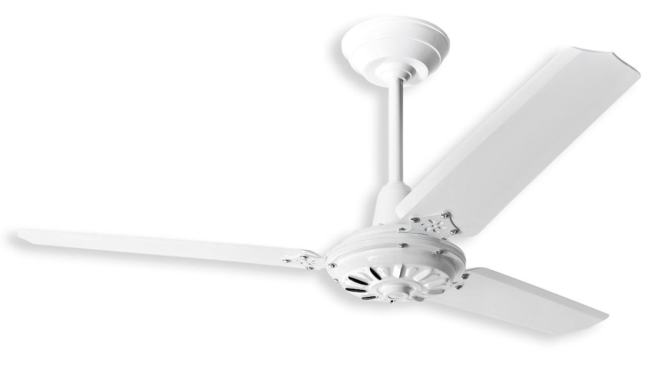 Ventilador de Teto Comercial M2 Branco / Pás de Aço Branca